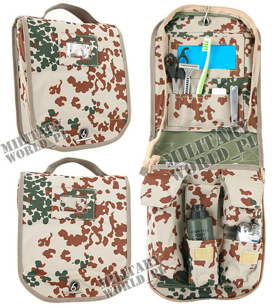 Cosmetic Bag military Flecktarn Desert